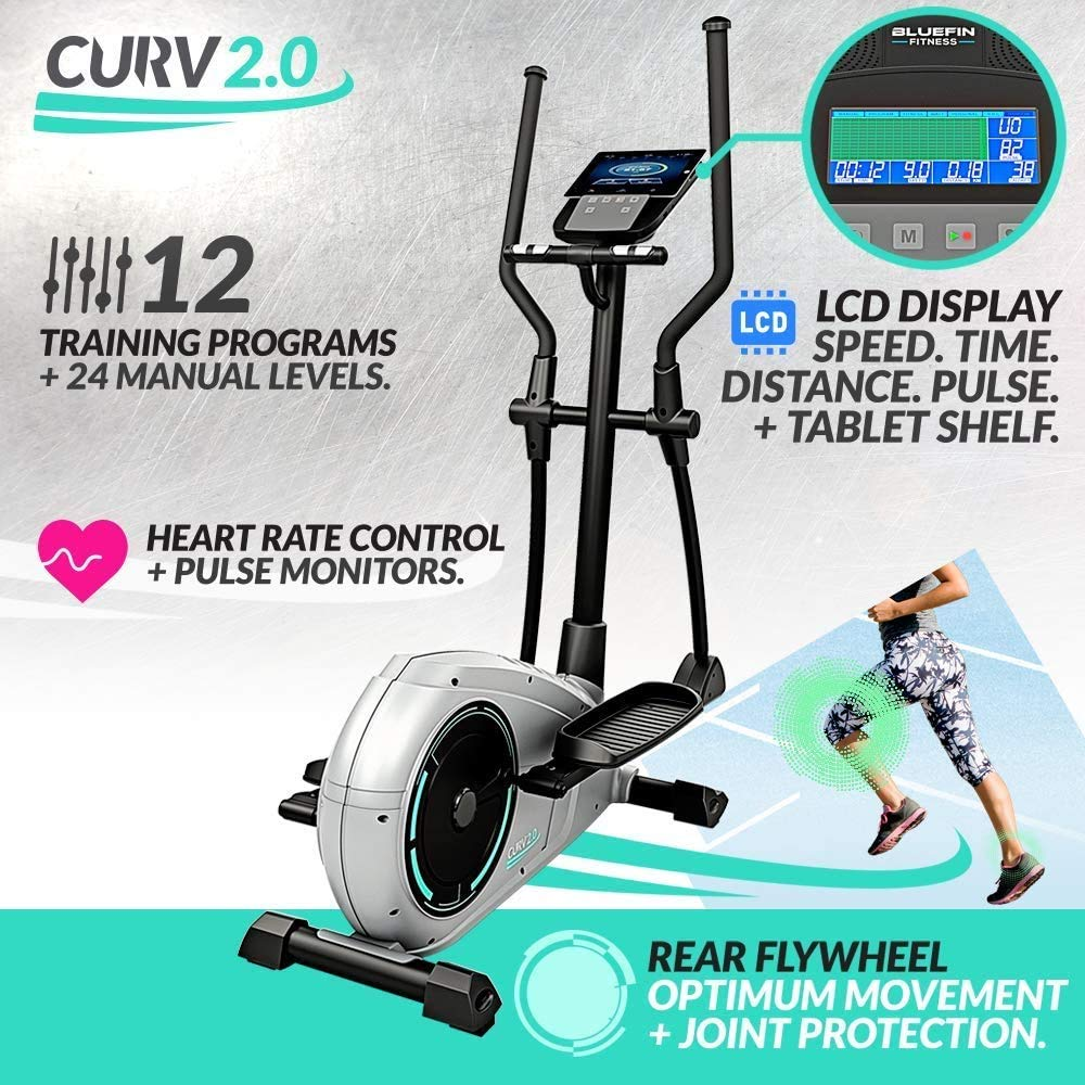 Bluefin Fitness CURV 2.0 Elliptical Cross Trainer Elíptica para ...
