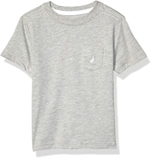 Nautica boys Basic Crew Neck Pocket Tee Shirt