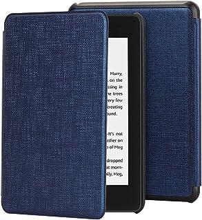 Cresee Kindle Paperwhite 第十世代 2018 ケース Newモデル オートスリープ機能付き 超薄 軽量 耐衝撃 高級感PUレザー 傷つけ防止 滑り止め ハードカバー 耐久性強い キンドルペーパーホワイト保護カバー (Kindle Paperwhite 第10世代 (2018), ブルー)