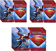 Man of Steel Superman Party Invitations & Thank-You Postcards - 24 Guests