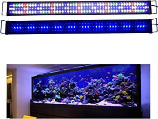 KZKR Aquarium Hood Lighting LED Fish Tank Light 16-84 inch Lamp for Freshwater Saltwater..