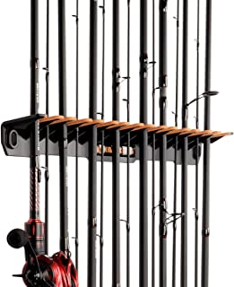 KastKing Patented V15 Vertical Fishing Rod Holder – Wall Mounted Fishing Rod Rack, Store 15 Rods or Fishing Rod Combos in ...