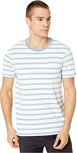 White Indigo Columbia Stripe