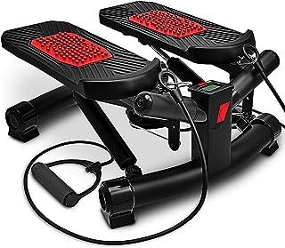 Sportstech Stepper Fitness STX300 2in1 con Elastici incl, Movimento Laterale e Rotante valido Sia per Principianti Che esp...