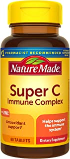 Nature Made Super C Immune Complex, 60 Tablets, Including Vitamin C, Vitamin A, Vitamin E, Vitamin D3, and Zinc Supplement