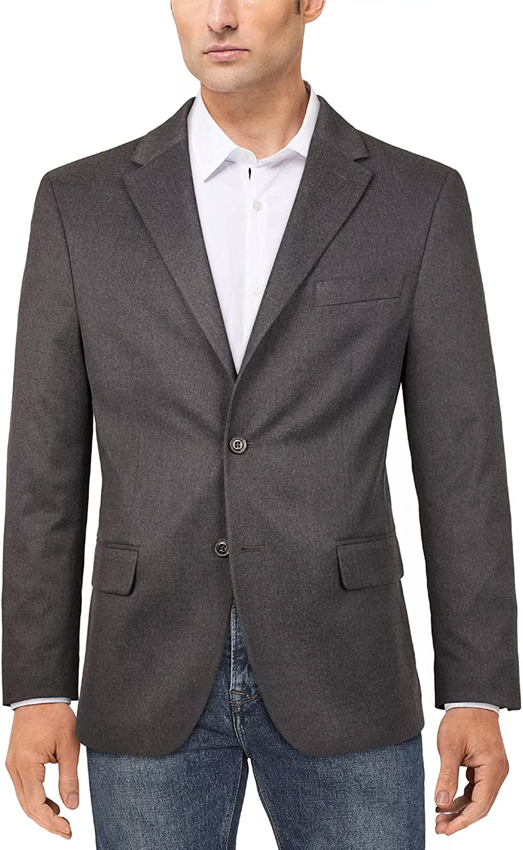 Tommy Hilfiger Mens Modern-THFlex Solid Sport Coat 36S Grey