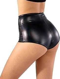 Women Leather Metallic Shiny Short