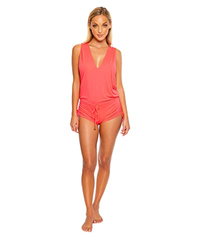 Luli Fama Cosita Buena T-Back Romper Cover-Up (Bombshell Red) Women
