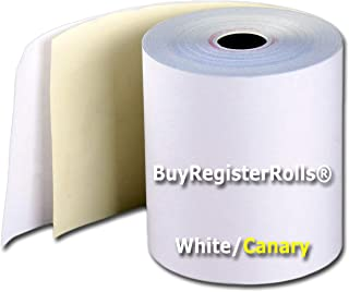 Kitchen printer paper Two Ply Carbonless Rolls, 3 X 90 Feet, White/Canary (3 X 90 Feet, White/Canary (50 Rolls Per Carton) Required sp700 printer ribbon or printer ribbon erc30/34/38 from BuyRegisterR