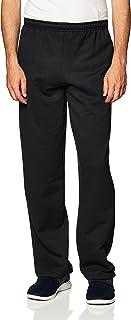 Men's Fleece Open Bottom Sweatpants with Pockets, Style...