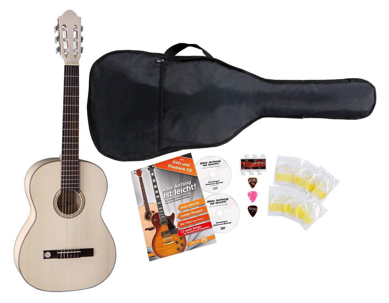 VGS Pro Natura Silver 7/8 – Guitarra de concierto Starter Set ...