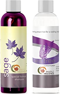 Sulfate Free Shampoo and Conditioner Set - Dandruff Shampoo and Conditioner for Color Treated Hair with Essential Oils for Dry Scalp Treatment - Tea Tree Shampoo and Conditioner for Hair Growth