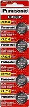 Panasonic CR2032 Lithium 3 Volt Battery (5 pieces)
