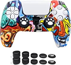 6amLifestyle Protetor de silicone antiderrapante para controle de PS5 para controle Playstation 5 DualSense PS5 (película ...