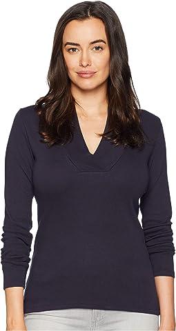 Long Sleeve Shawl Collar