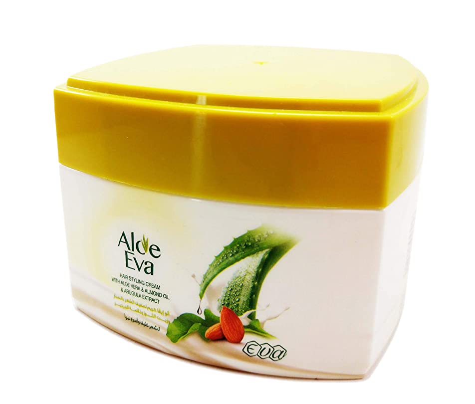 便利独裁達成可能Eva Natural Styling Hair Cream 185 GM (With Aloe Vera & Almond Oil & Arugula Extract)