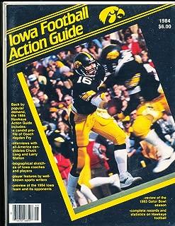 1984 University of Iowa Gator Bowl Football Media Guide a9 BX 82