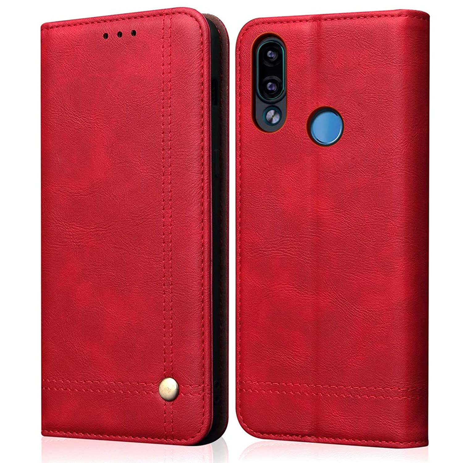 Mayround Compatible for Huawei Enjoy 9 Plus/Y9 2019 Leather Case,Shockproof Folio Book Cover with Credit Card Slots Leather Wallet Cases Compatible for Huawei Enjoy 9 Plus/Y9 2019 6.5
