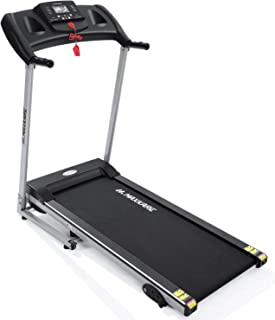 MaxKare Electric Treadmill Foldable 17 Wide Running Machine 3 Levels Manual Incline 1.5 HP Power 12 Preset Program Easy Assembly Max Speed 7.5MPH with Large Display & Cup Holder for Home Use