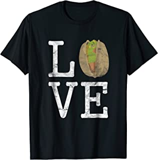 LOVE Pistachio Nut Funny Shirt I Food Cook Cooking Graphic T