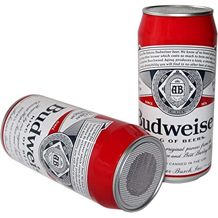 Budweiser Beer Can Tall Boy Wireless Bluetooth Speaker Up to 6 Hours of Playtime, Lifestyle Tall boy, Portable Speaker
