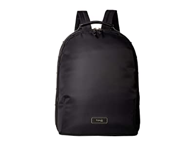 Lipault Paris Business Avenue Medium Backpack (Jet Black) Backpack Bags