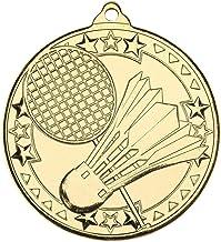 Lapal Dimension Badminton 'Tri Star' medaille - goud - 2 in Pack van 10