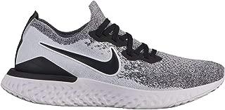 Nike Women's Epic React Flyknit Running Shoe (8, White/Black/Pure Platinum)