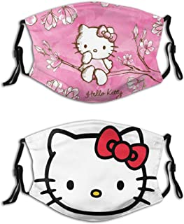 Plonpl Hello-Kitty with Filter Face Cover Reusable Bandana Washable Scarf