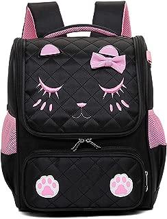 GLJ Children's Cute Student Bag Shoulder Reduction Shoulder Bag Backpack (Color : Black, Size : M)