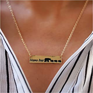 Edary Mama Bear Necklace Sweet Family Necklace Gift for Mother