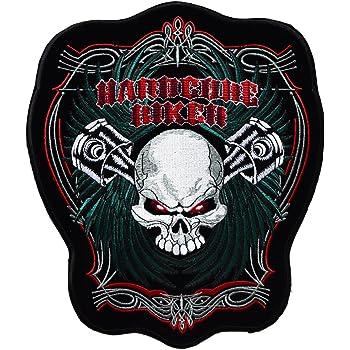 ecusson Tete de Mort Diable Devil Satan Biker Moto Motard Rock Grand Format 29x25cm Hells Angel