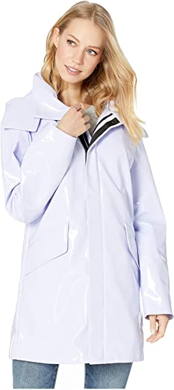 Patent Faux Leather Raincoat