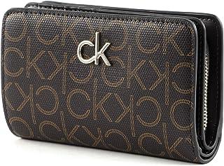 Calvin Klein Billfold French Wallet Brown Mono