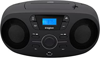Bigben Interactive CD61NUSB Portable CD Player Black CD Player – CD Drive (FM, PLL, Audio CD, LED, Digital, AC Current, Ba...