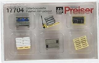 Preiser 17704 Assorted Pallets w/Loads HO Scale Scenery Set