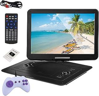 "15.6"" Portable DVD Player, Mini Car CD TV/Game Function Swivel DVD Media Player 1366 * 768 Resolution LCD Screen Large Mem..."