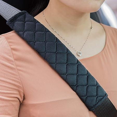 Premium Gurtpolster Im Zweierpack Polsterung Für Sitzgurt Im Auto Für Mehr Komfort Auf Der Reise Schwarz Auto