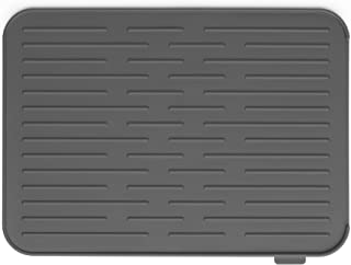 Brabantia Silikon Abtropfmatte, Stahl, dunkelgrau, 43,8 x 32,5 x 0,9 cm
