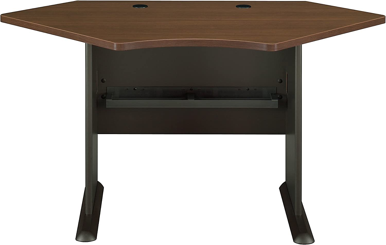 Bush Business Furniture Series A Collection 42W Corner Desk in Sienna Walnut