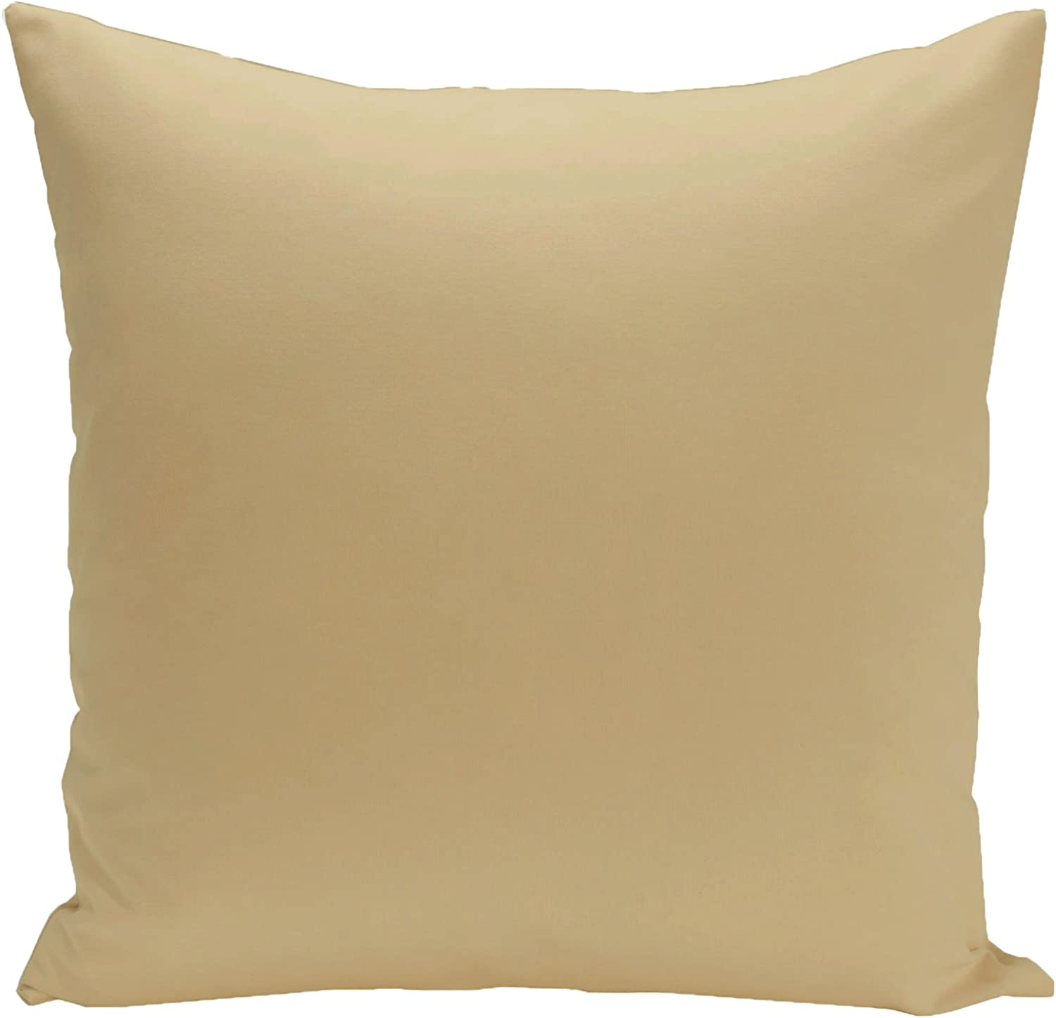 E By Design Asian Collection Emperor Solid Decorative Outdoor Pillow, 18-Inch