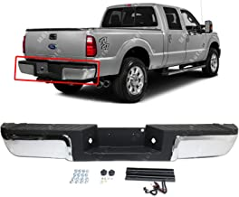 MBI AUTO - Chrome, Steel Complete Rear Bumper Assembly for 2013-2016 Ford Super Duty F250 F350 Pickup W/Out Park 13-16, FO1103176