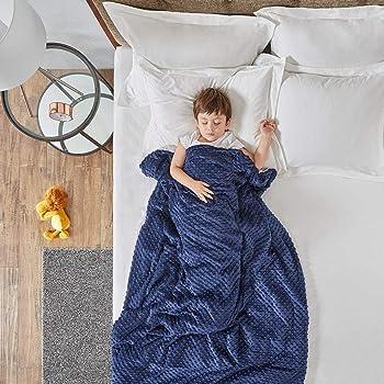 Manta con 2 Fundas Reemplazables - Manta de Gravedad Ideal para niños Que sufren de sueño, RLS, ansiedad, Autismo y ADHD - Mantas Pesadas con Material de algodón y Perlas de Vidrio Insomnia or Stress