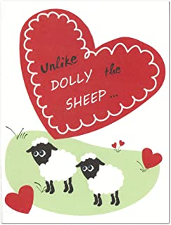 Dolly The Sheep Clone Science Valentine's Day/Anniversary Card (4.25