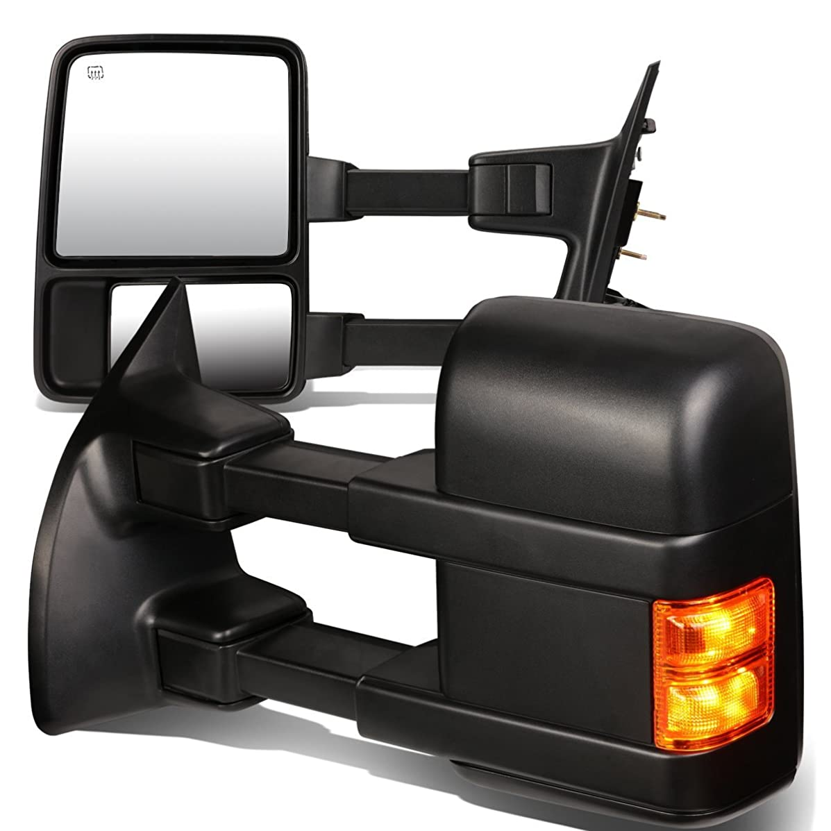 DNA MOTORING TWM-027-T888-BK-AM Pair of Towing Side Mirrors(Driver and Passenger Sides)