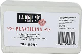 Sargent Art Plastilina Modeling Clay, 2-Pound, White