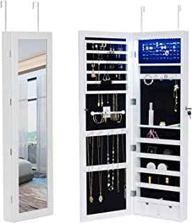 mounted mirror jewelry armoire