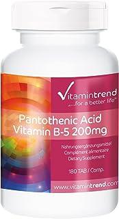 Vitamina B5 – Ácido pantoténico – Tratamiento para 6 meses