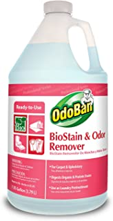OdoBan 960062-G BioStain and Odor Remover, Ready-to-Use, 128 oz