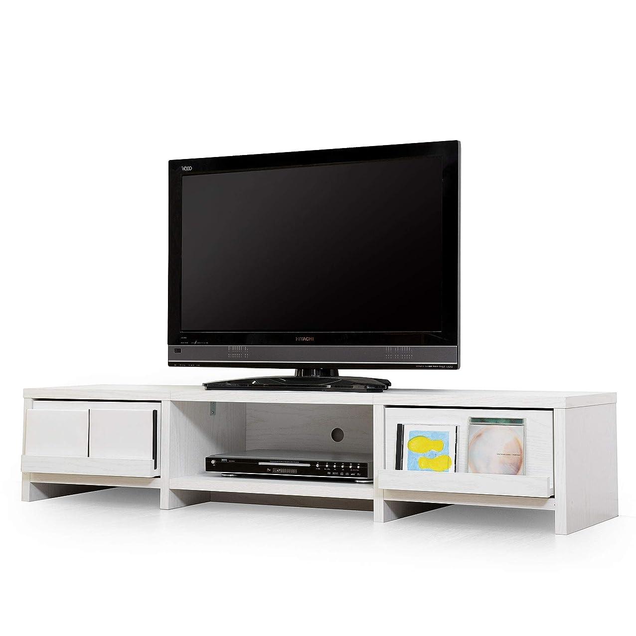 突き刺す時刻表終わったLITENStaD テレビ台 ローボード TVボード 幅140cm × 奥行40cm × 高さ30cm ホワイトオーク LSD-06-0004-wo